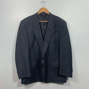 Burberry Windowpane Dark Gray Sport Coat Size 46R